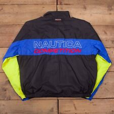 "Mens Vintage Nautica Competition Spell Out Windbreaker Coat Jacket XL 48"" R19558"