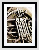 MUSIC PHOTO INSTRUMENT BRASS FRENCH HORN TUBES PIPES FRAMED ART PRINT B12X12190