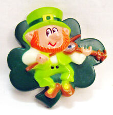 St Patrick's Day LEPRECHAUN Vintage Plastic Pin Russ Berrie Made in Hong Kong