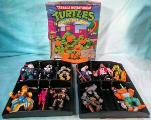 Teenage Mutant Ninja Turtles TMNT 1991 Collector's Case with 10 Figures!