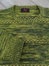BRIONI italy 100% CASHMERE  sweater XXL green/yellow knit
