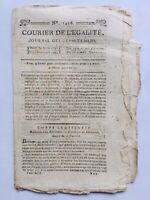 Journal Révolution Française 1796 Drouet Béziers Mayence Chouans Moreau