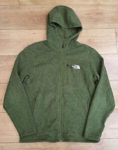 The North Face Fleece Lined Hooded Top - Mens - Medium - Green
