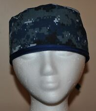 Digital Blue Camo (NWU/Navy Camo) Men's Scrub Cap/Hat - One size fits most