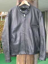 Schott 141 Classic Cafe Racer Leather Motorcycle Jacket Black Size 50