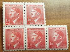 1.20 K Dt Reich Postfrisch 5er block Cechy a Morava MiNr. 98 (1E2)