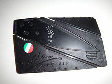 ITALY Flag Raised Emblem On A Folding Wallet Credit Card Knife *Great Gift*