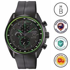 New Citizen Eco-Drive Mens Watch Black Rubber Strap Chrono CA0595-11E 03E(AU)