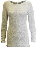GORGEOUS NWOT H&M GREY COTTON COSY CHUNKY KNIT JUMPER SIZE XS 6
