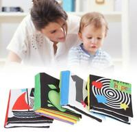4pcs Soft Crinkle Cloth Books Infant Early Educational Toy Baby Activity Book