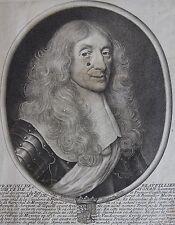 FRANCOIS DE BEAUVILLIER COMTE DE ST AIGNAN... Portrait. Gravure originale 1650