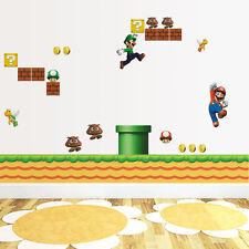 Énorme Super Mario Bros Amovible Autocollant Mural Décoration Enfants