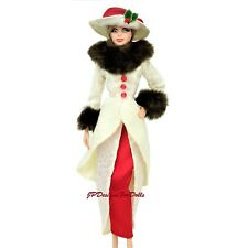 Barbie Victorian Style troupe et faux fur Cuffs and Collar NEW OUT OF BOX NO DOLL