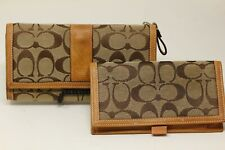 Vintage Leather Coach Wallet ~ Canvas and Leather