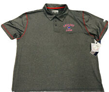 Chicago Cubs Men's Collar Golf Polo Authentic New Size 2XL Gray Lightweight Sale