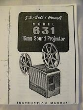 Instructions cine projector BELL & HOWELL 631 16mm sound projector COPY