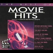 The Best of Movie Hits [Box] by Starlite Orchestra (CD, May-1997, 3 Discs,...
