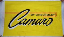 Camaro By Chevrolet SS Car Flag banner 3x5 ft Decor Garage Man Cave Yellow Chevy