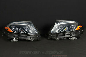 A1669069302 A1669069402 Mercedes X166 GLS 63 AMG USA LED Headlight Complete