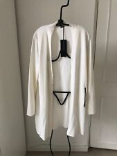 Strenesse, white long cardigan, new with tags, size 14