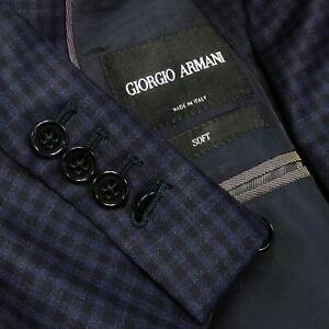 LNWOT CURRENT GIORGIO ARMANI BLACK LABEL Check 2Btn 2Vents Sport Coat Jacket 44L