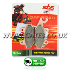 SUZUKI RM125 1987-1995 SBS 611SI Sintered Competition Front Brake Pads