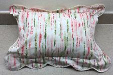 Schweitzer Linens Italian Scalloped Boudoir Bed Pillow Italy Sateen Cotton