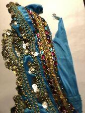 Belly Dance Sequin Waistband Blue Gold