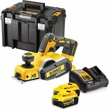 DeWalt DCP580N 18V XR Brushless  Planer With 2 x 5Ah Batteries, Charger & Case