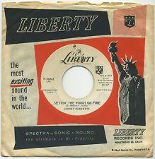 "JOHNNY BURNETTE Settin' The Woods On Fire/Kentucky Waltz 7"" 1959 promo VG"
