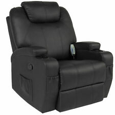 Massage Recliner Sofa Chair Heated W/Control Ergonomic Executive Couch Lounge Bk