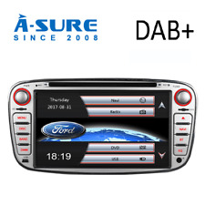 "7"" Ford Focus/Mondeo/S-Max Radio Car 2 Din Stereo DVD Player GPS Sat Nav SWC BT"