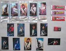 Michael Jackson Lot Chewing Bubble Gum Stickers Collection Set OFFICIAL 1989
