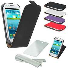 Samsung Flip Case Cell Phone Bag Case Cover Pouch Screen Protector Foil