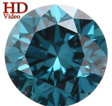 Natural Loose Diamond Blue Color Round SI1 Clarity 4.20 MM 0.33 Ct L5887