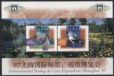 Australie 1997  vogels opdruk shanghia  blok  postfris/mnh