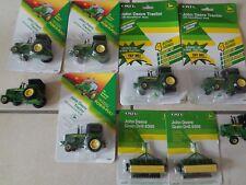 7 ERTL John Deere Traktoren und 2 Sähmaschinen M. 1:64 OVP
