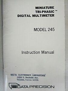 Data Precision Model 245 Miniature Tri-Phasic Digital Multi. Instruction Manual
