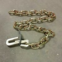 """41936041 Lot of 2 CHAIN-HOOK ASSEMBLY, 36"""", FORGED """"S"""" HOOK, U-Haul"""