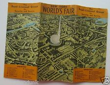 1939 World's Fair Auto Map& Subway Map Royal-Liverpool Groups For Security & Svc