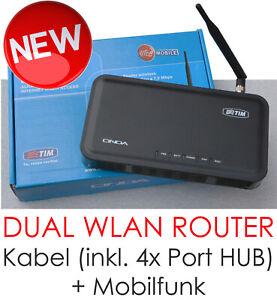 WLAN + GSM ROUTER DSL 4x PORT NETZWERKSWITCH FÜR KABEL UND WLAN ONDA DN7000T NEW