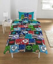 PJ Masks Single Duvet Cover Set Boys Kids Bedroom Bedding