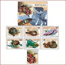 SAH98022 Reptiles 7 stamps and block MNH SAHARA 1998
