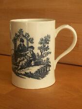 ANTIQUE WORCESTER BLUE AND WHITE MUG / TANKARD CIRCA 1780