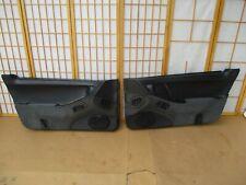 90-96 Nissan 300 ZX Left & Right Driver Passenger BLACK Interior Door Panel SET