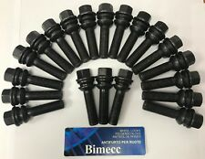 ALLOY WHEEL BOLTS X 20 M14X1.5 R14 BLACK FLOATING COLLAR 30mm THREAD FOR PORSCHE