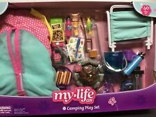 Camping Set For 18� Dolls, Tent ,light up campfire,fireflies, 40 pc. My Life As