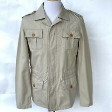 Safari Field Jacket Scappino Outdoor Men's Large Button Front