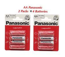 PANASONIC 8  ZINC BATTERIES AA R6 AA 1.5V PACK OF 4 KIDS TOYS CLOCKS TOURCHES