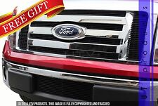 GTG 2009 - 2012 Ford F150 9PC Gloss Black Overlay Billet Grille Grill Kit